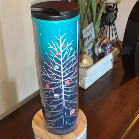 Starbucks 2018 Chirstmas Tree Blue Ombre Tumbler